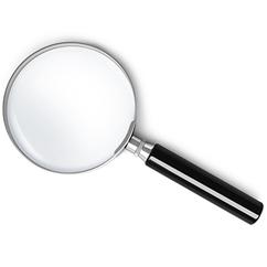 Lupe - Optische Prüfung Krügerrand Goldmünze