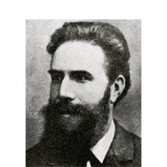 Wilhelm Conrad Röntgen - Prüfung einer Krügerrand Goldmünze mit Röntgenstrahlen